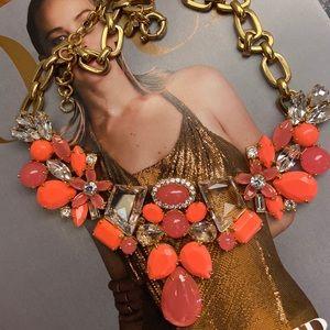🔥NEW JCrew Orange GoldTone Necklace